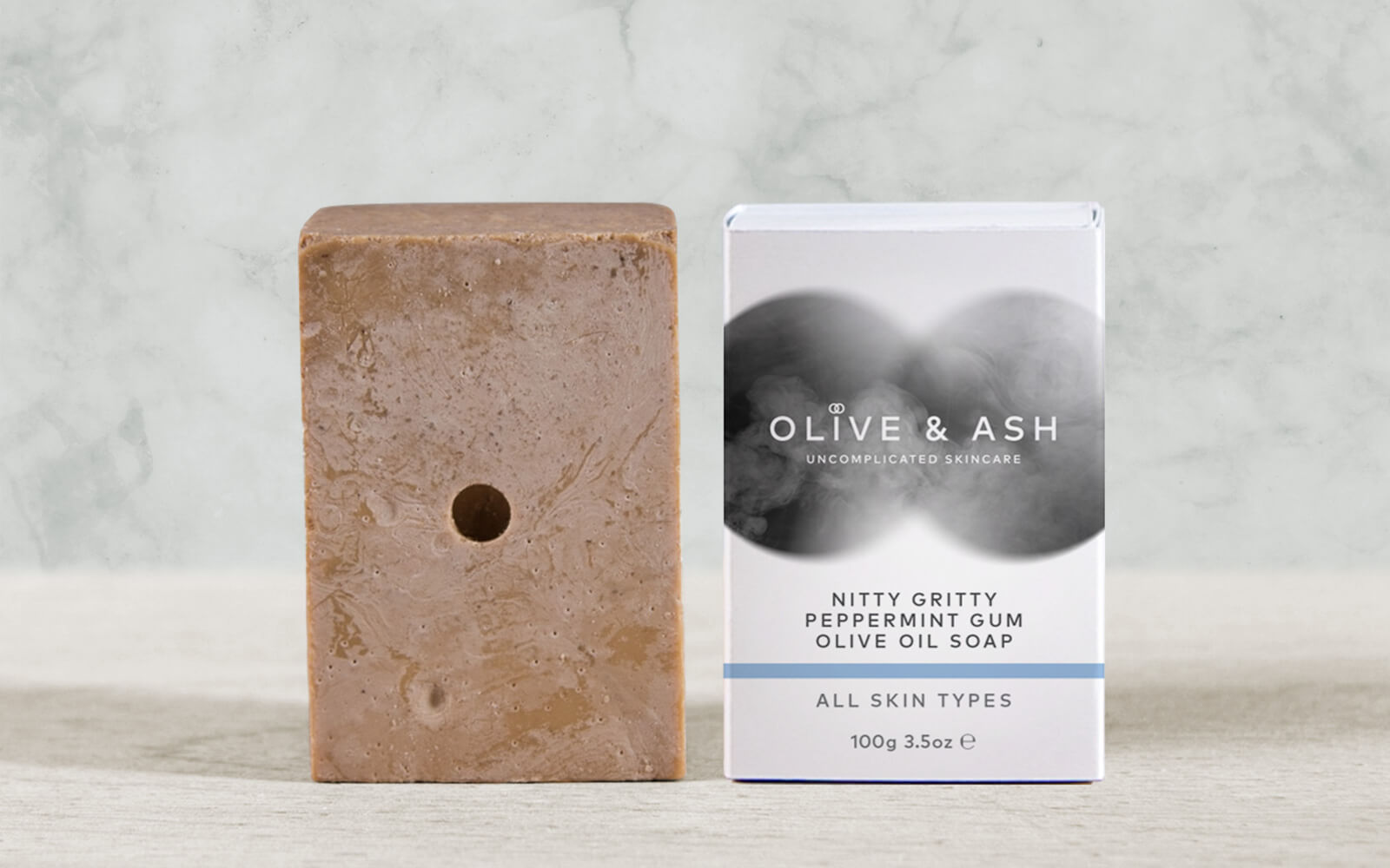 Olive & Ash Nitty Gritty Peppermint Gum Olive Oil