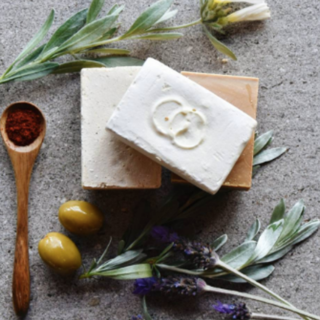 Pure olive oil soap for rosacea